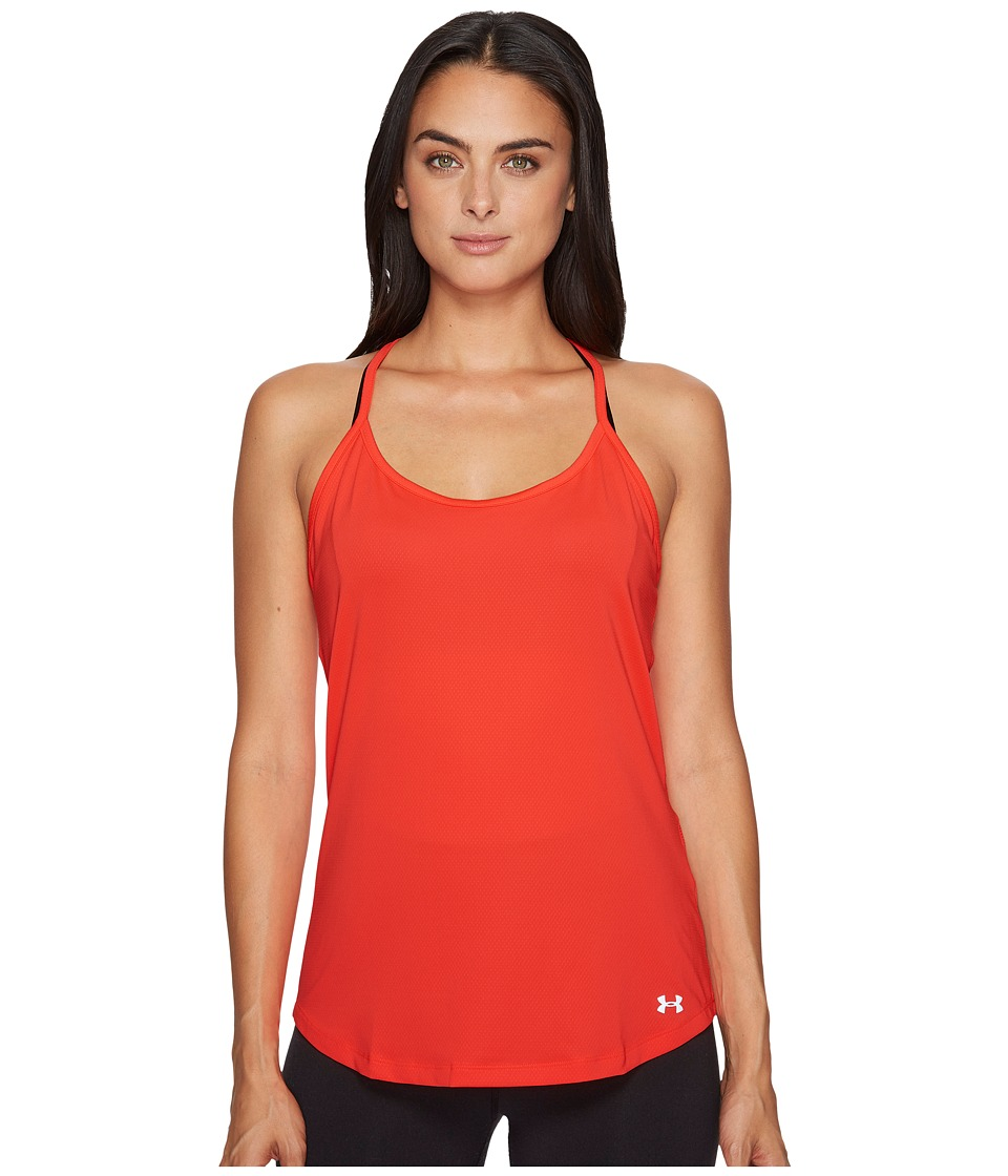 Under Armour Fly By Racerback Tank Top (Marathon Red/Marathon Red/Reflective) Women