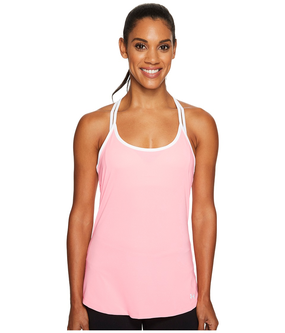 Under Armour Fly By Racerback Tank Top (Cape Coral/White/Reflective) Women