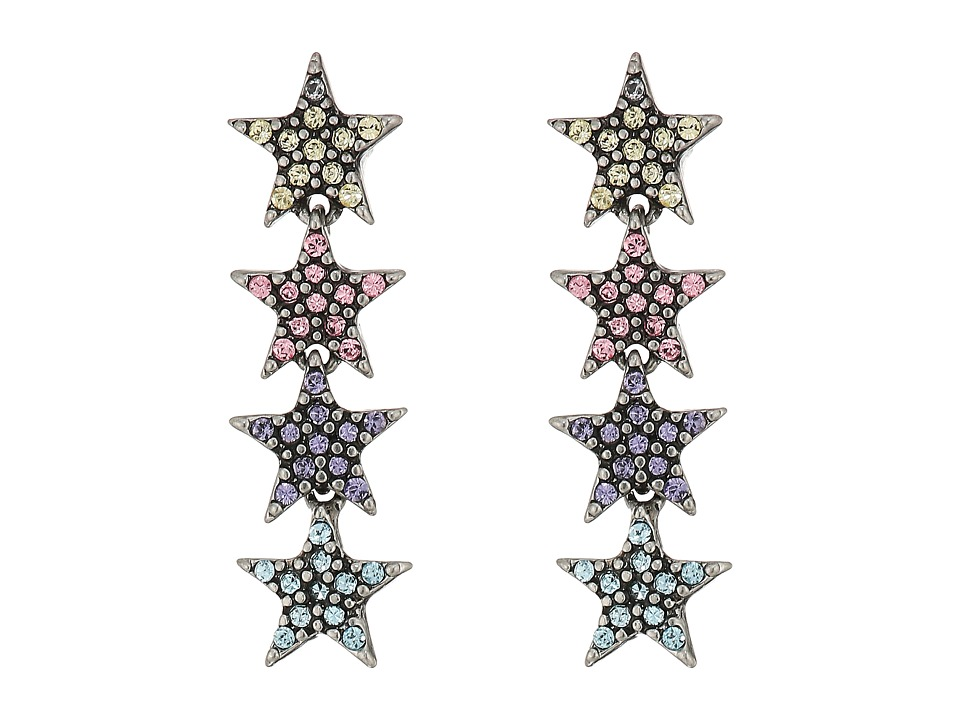 Marc Jacobs - Charms Celestial Twinkle Star Earrings (Antique Silver Multi) Earring