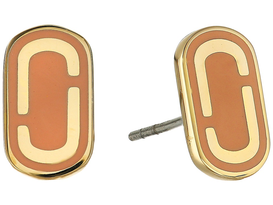 Marc Jacobs - Icon Enamel Studs Earrings (Peach) Earring