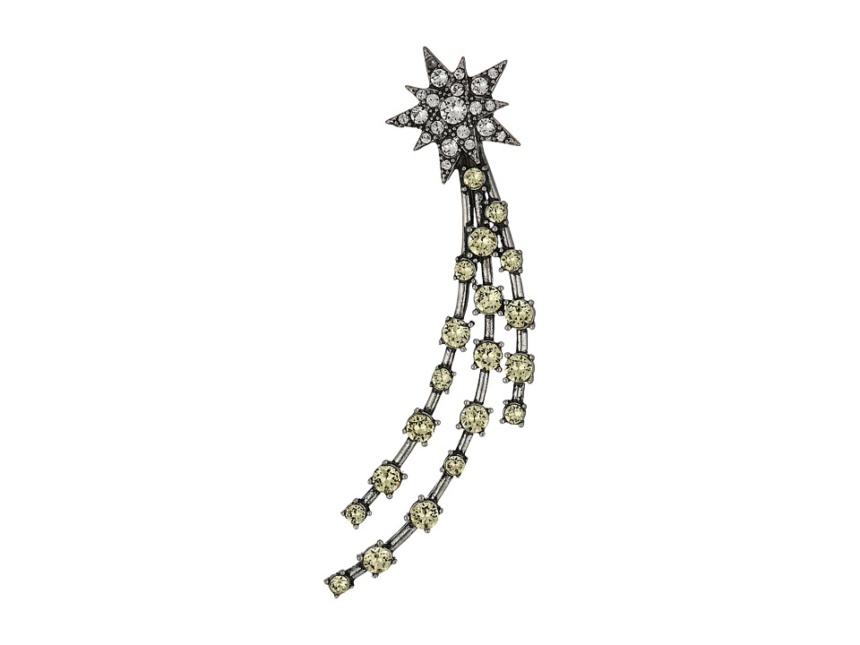 Marc Jacobs - Charms Celestial Shooting Star Single Earrings (Antique Silver Multi) Earring