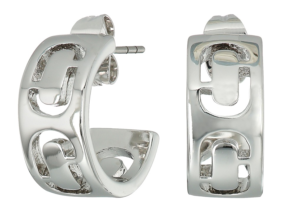 Marc Jacobs - Icon Cut Out Small Hoop Earrings (Silver) Earring