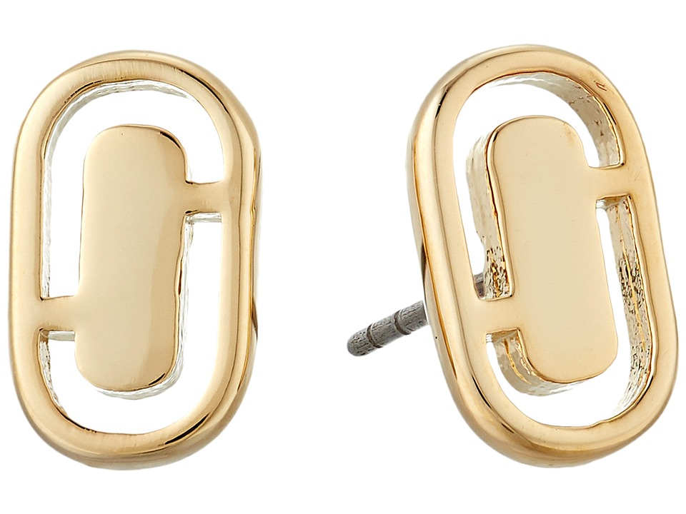 Marc Jacobs - Icon Cut Out Studs Earrings (Gold) Earring