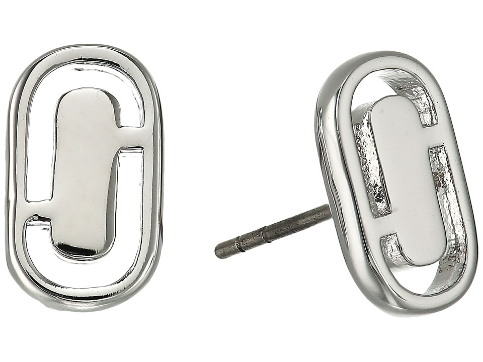 Marc Jacobs - Icon Cut Out Studs Earrings (Silver) Earring