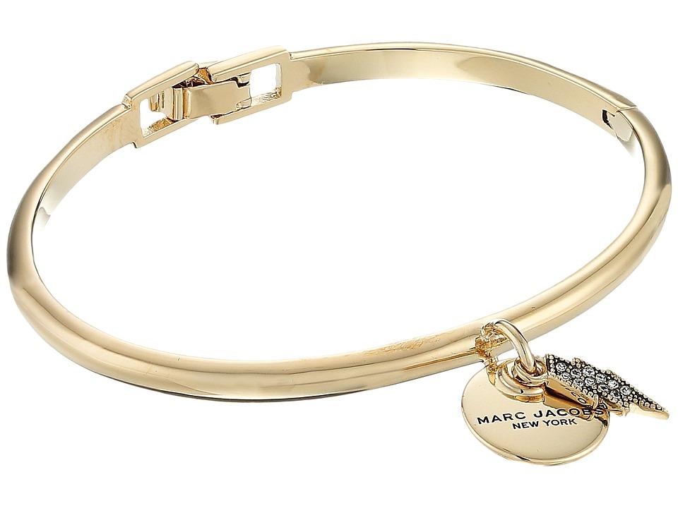 Marc Jacobs - MJ Coin Lightning Hinge Cuff Bracelet (Crystal/Gold) Bracelet
