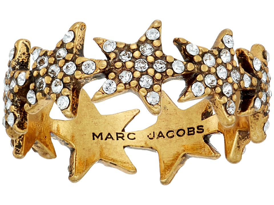 Marc Jacobs - Charms Celestial Twinkle Star Ring (Crystal/Antique Gold) Ring