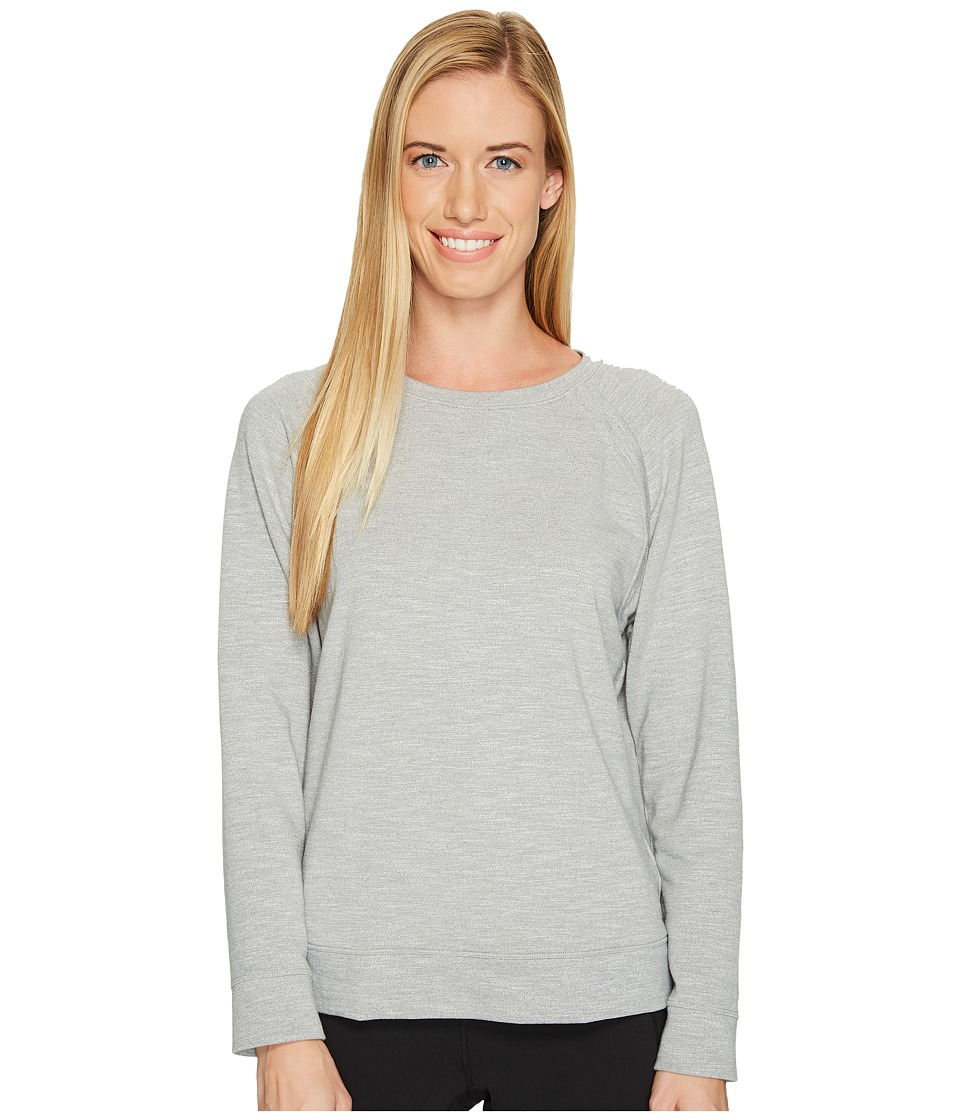 Under Armour Plush Terry Crew (True Gray Heather/Cape Coral/Tonal) Women