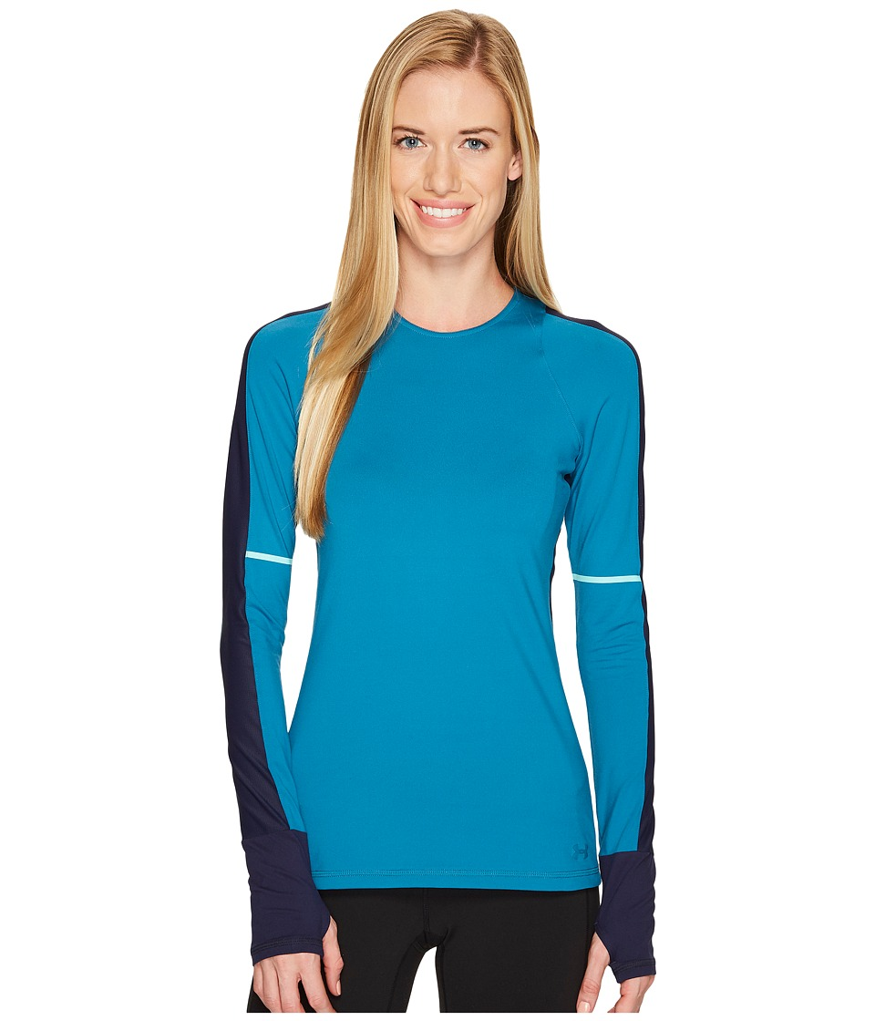 Under Armour Mirror Long Sleeve Novelty Top (Bayou Blue/Midnight Navy/Tonal) Women
