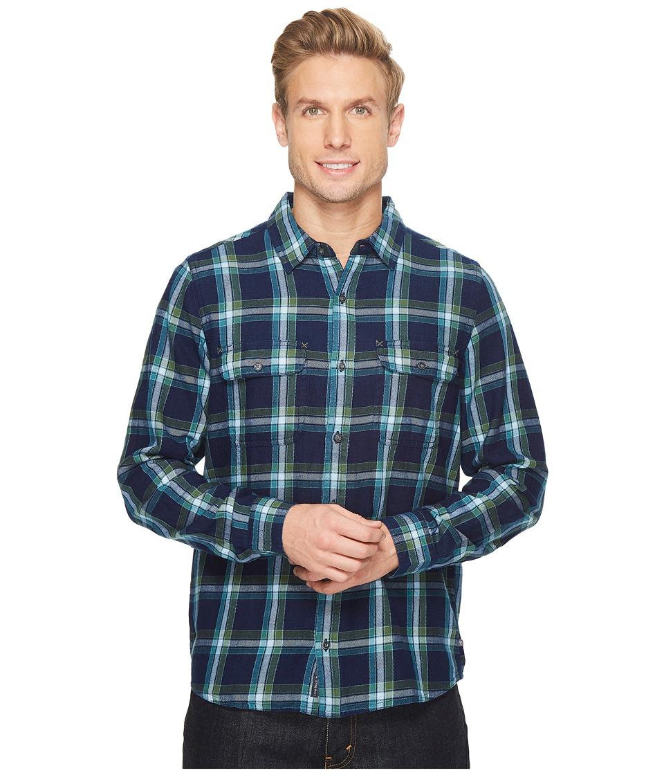 Toad&Co Indigo Flannel Slim Long Sleeve Shirt (Kale) Men