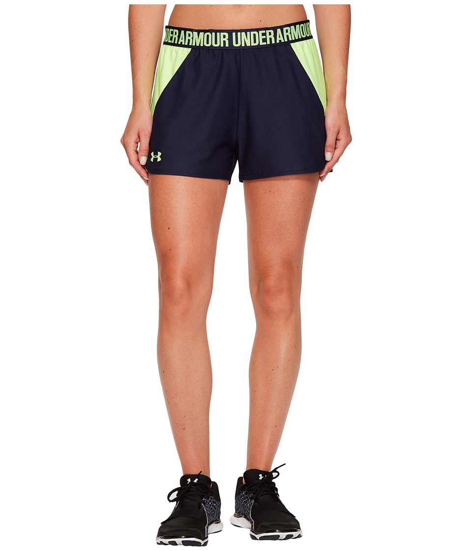 Under Armour - New Play Up Shorts (Midnight Navy/Quirky Lime/Quirky Lime) Women's Shorts