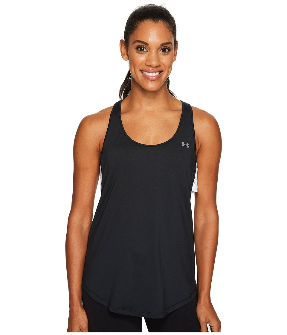 Under Armour - Flashy 2-in-1 Tank Top (Black/White/Graphite) Women's Sleeveless