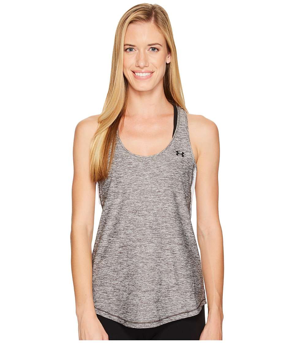 Under Armour Flashy 2-in-1 Tank Top (Carbon Heather/White/Steel) Women