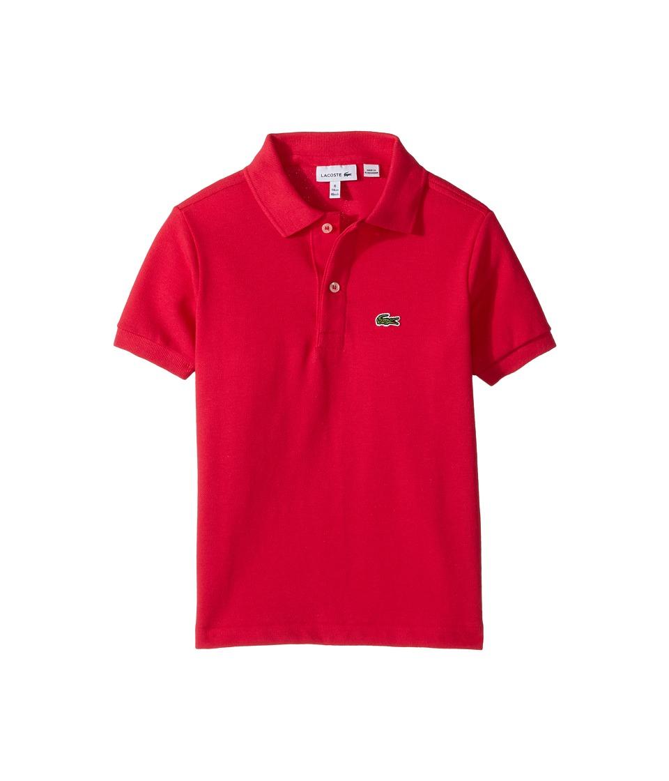 Lacoste Kids - L1812 Short Sleeve Classic Pique Polo (Toddler/Little Kids/Big Kids) (Saphir Chine) Boy's Short Sleeve Pullover