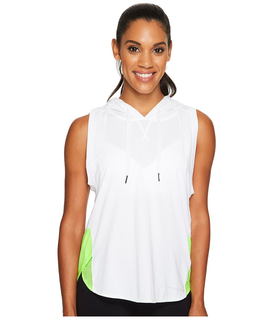 Under Armour Favorite Mesh Sleeveless Hoodie (White/Quirky Lime/Elemental) Women