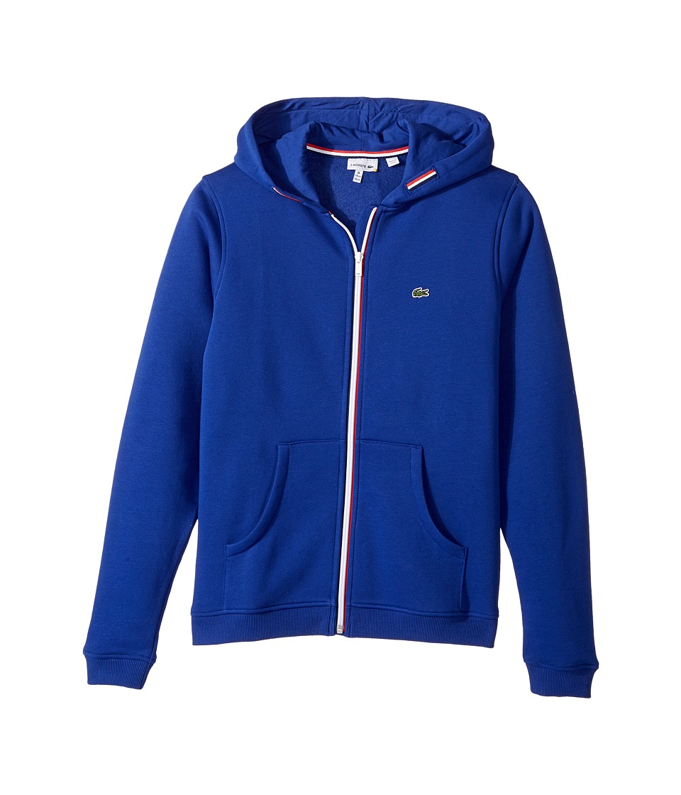 Lacoste Kids - Full Zip Fleece Hoodie (Toddler/Little Kids/Big Kids) (France) Boy's Sweatshirt