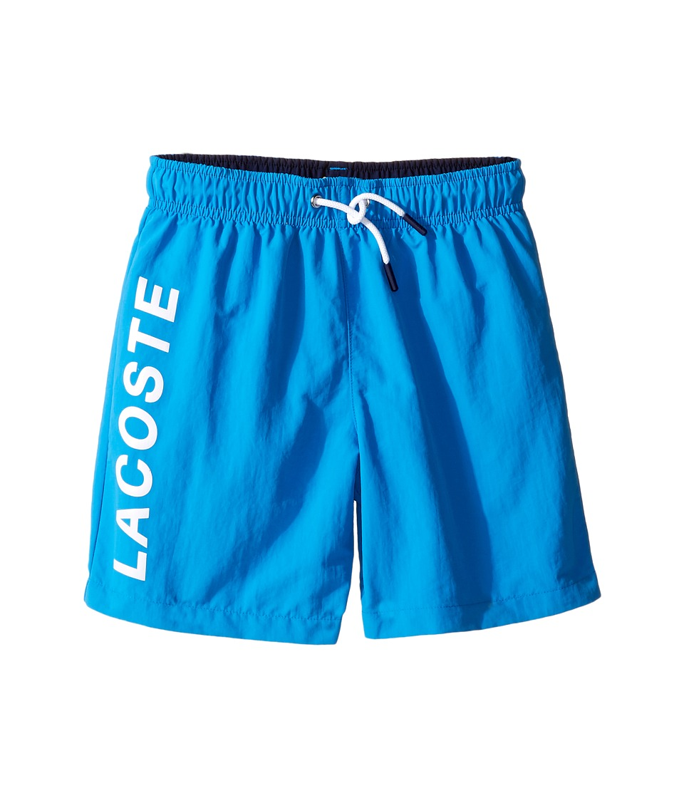 Lacoste Kids - Logo Swimsuit (Little Kids/Big Kids) (Barbados 1/Penumbra) Boy's Swimwear