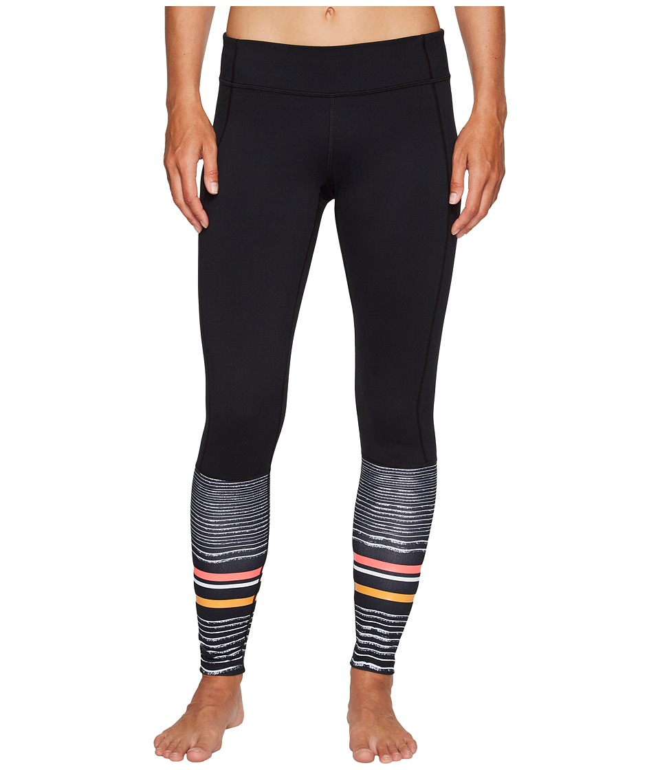 Under Armour - Mirror Striped Leggings (Black/Tonal) Women's Casual Pants