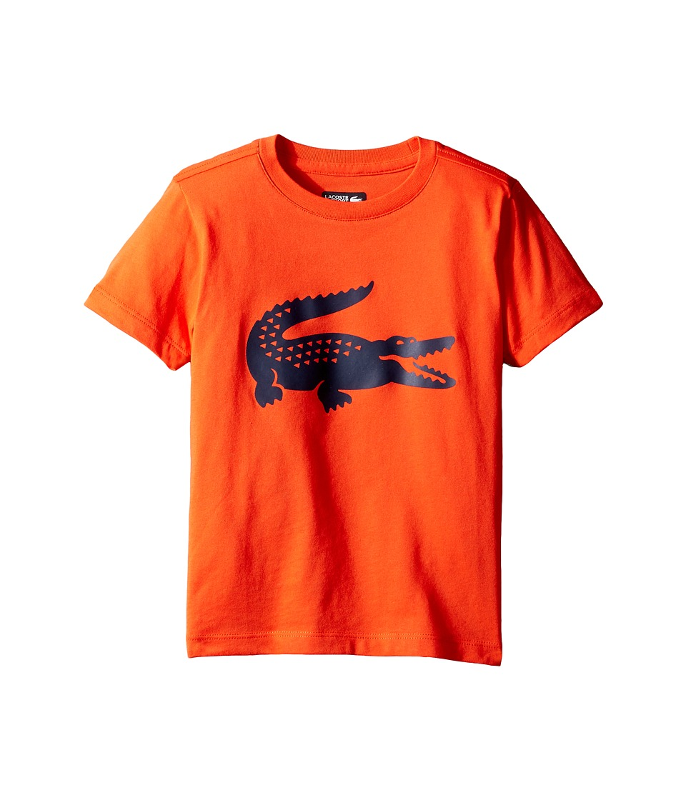 Lacoste Kids - Sport Croc Graphic Tee (Little Kids/Big Kids) (Etna Red/Navy Blue) Boy's T Shirt