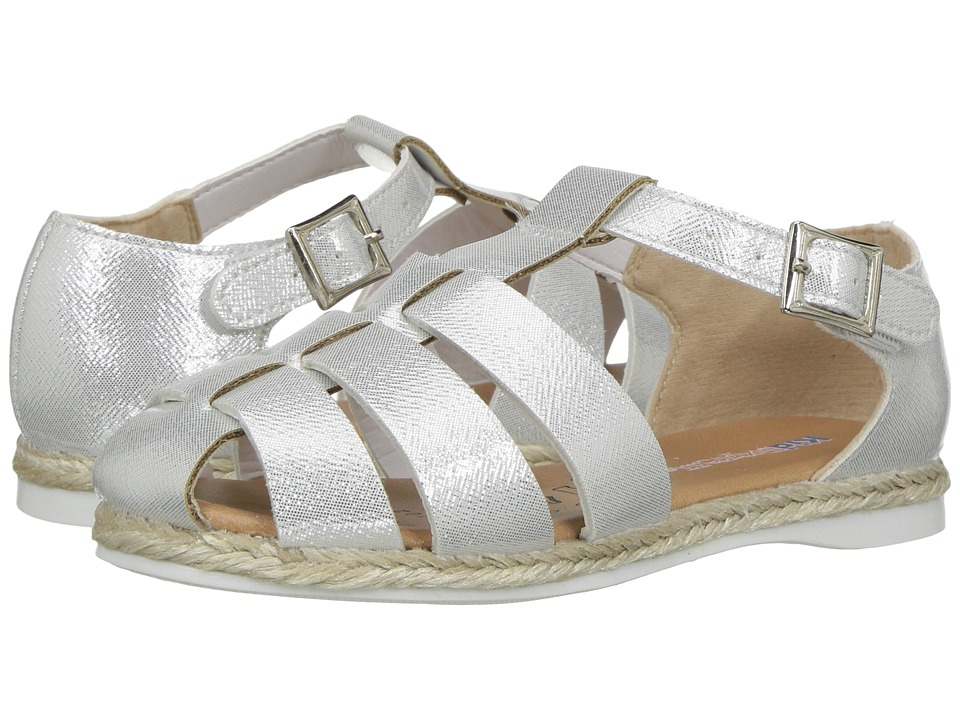 Kid Express Xaviera (Toddler/Little Kid) (White Glitter Patent) Girls Shoes