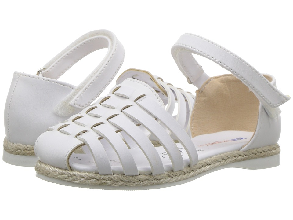 Kid Express - Sunshine (Toddler/Little Kid) (White Leather) Girls Shoes