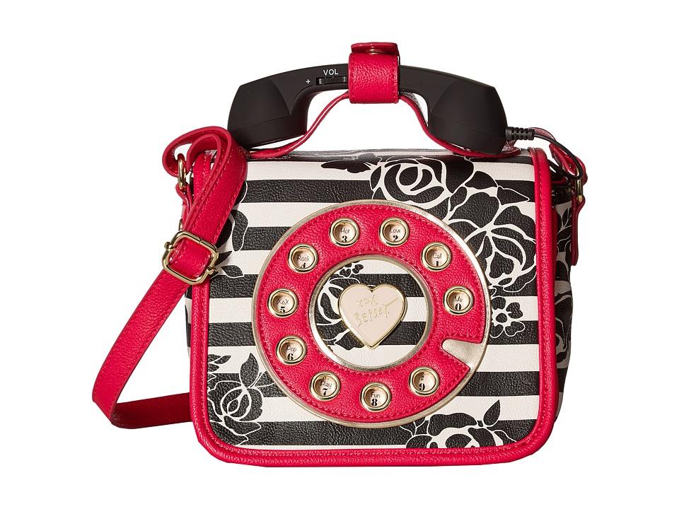 Betsey Johnson - Mini Phone Crossbody (Stripe) Cross Body Handbags
