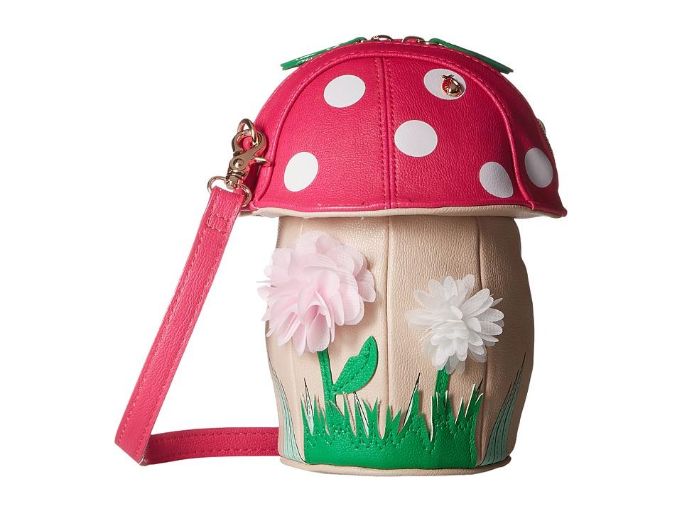Betsey Johnson - Shroomin' Crossbody (Fuchsia) Cross Body Handbags