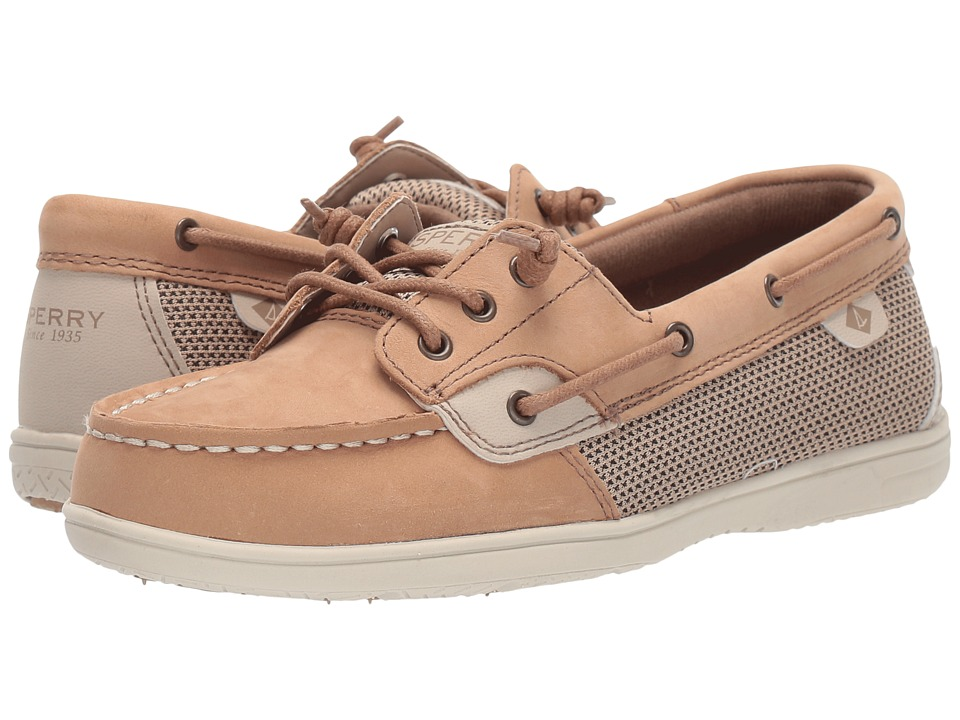 Sperry Kids - Shoresider 3-Eye (Little Kid/Big Kid) (Linen/Oat) Girl's Shoes