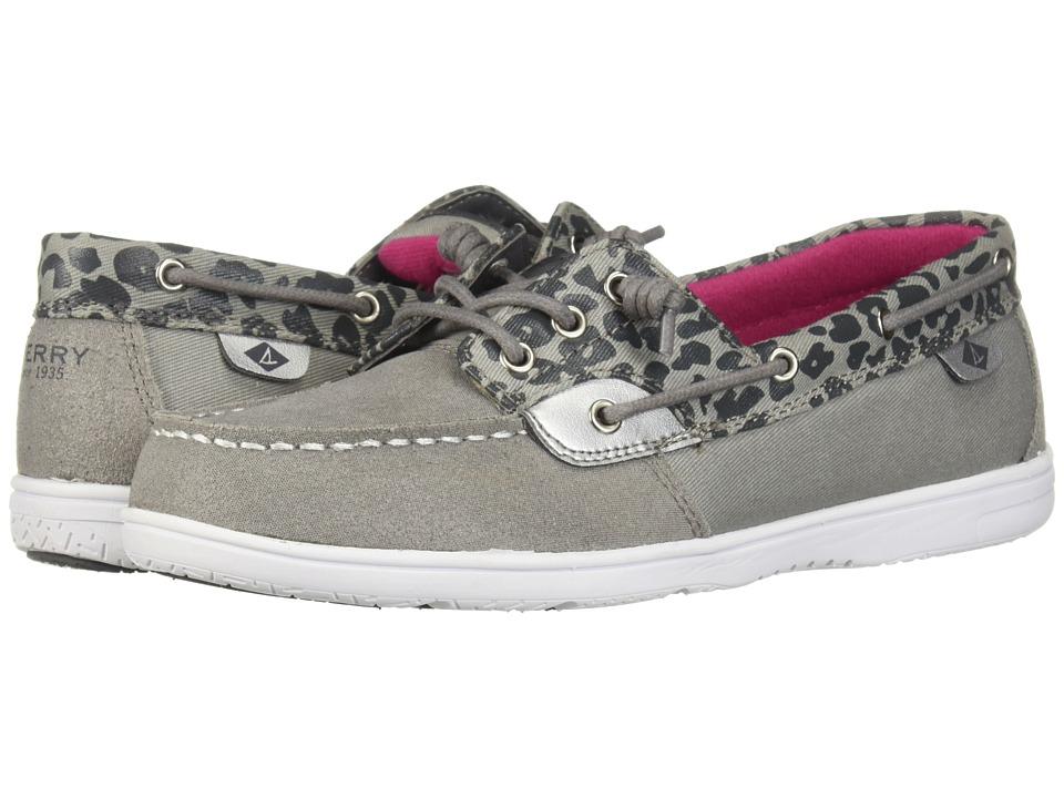 Sperry Kids - Shoresider 3-Eye (Little Kid/Big Kid) (Grey/Animal) Girl's Shoes
