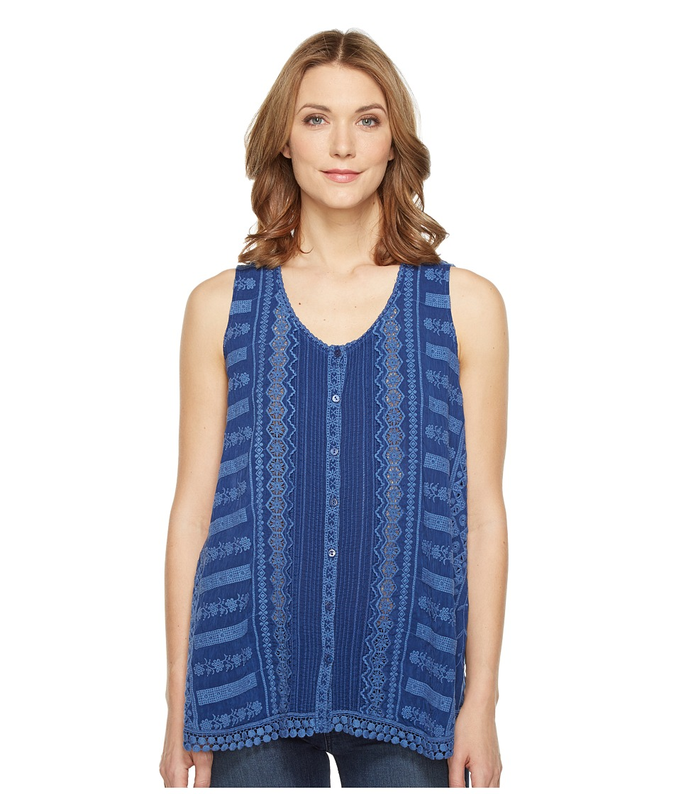 Johnny Was - Nye Tank Top (Blue Bird) Women's Sleeveless