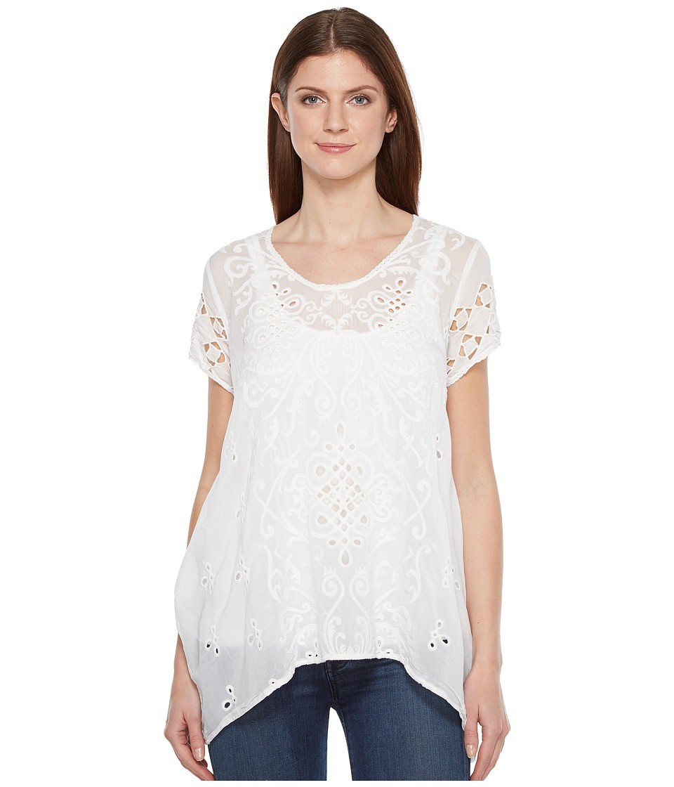Johnny Was - Wicktoria Tunic (White) Women's Blouse