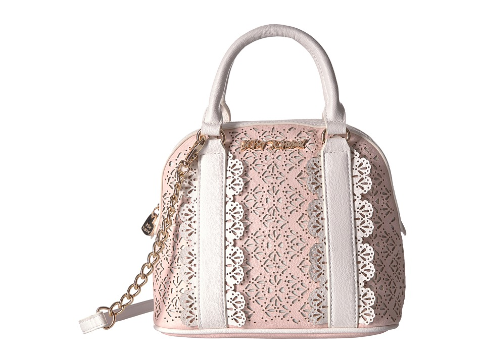Betsey Johnson - Chic Frills Dome Satchel (Blush) Satchel Handbags