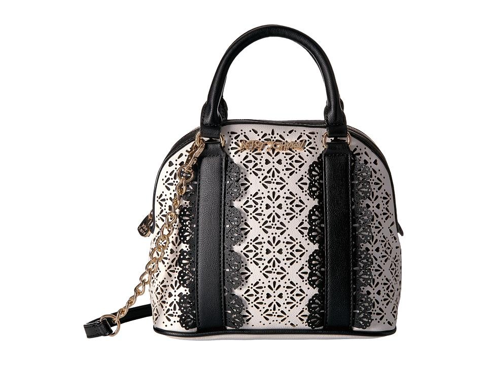 Betsey Johnson - Chic Frills Dome Satchel (Black) Satchel Handbags