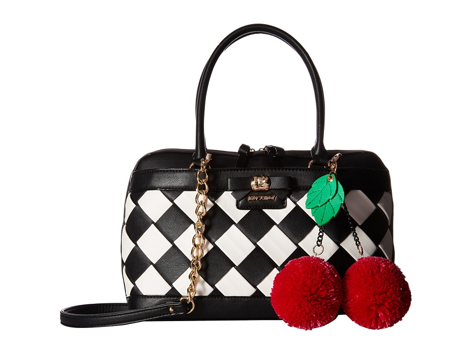 Betsey Johnson - Forbidden Fruit Satchel (Black) Satchel Handbags