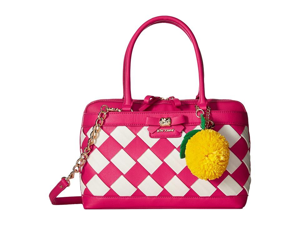 Betsey Johnson - Forbidden Fruit Satchel (Fuchsia) Satchel Handbags