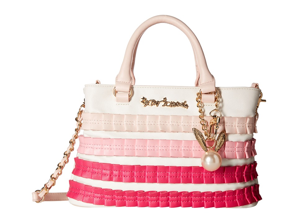 Betsey Johnson - Pleats Thank You Satchel (Blush) Satchel Handbags