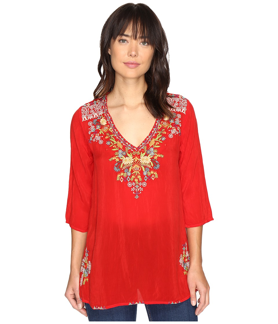 Johnny Was - Mary Ann Blouse (Racer Red) Women's Blouse