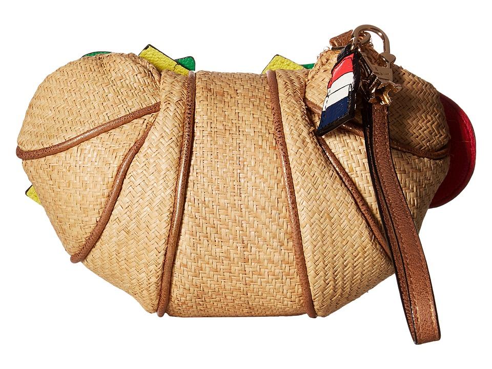 Betsey Johnson - Crois Sandwich Wristlet (Tan) Wristlet Handbags