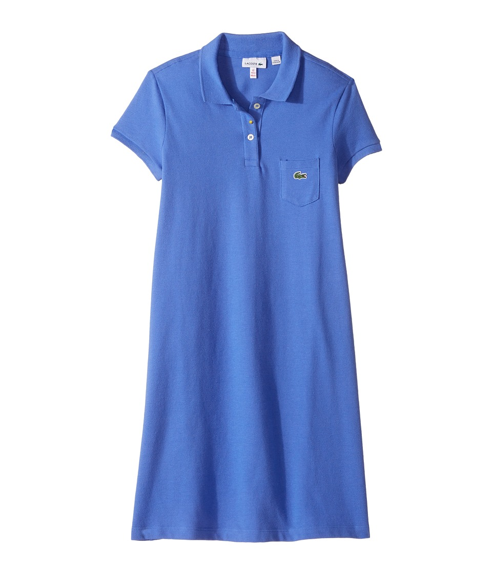 Lacoste Kids - Classic Pique Dress with Pocket (Toddler/Little Kids/Big Kids) (Milos Blue) Girl's Dress