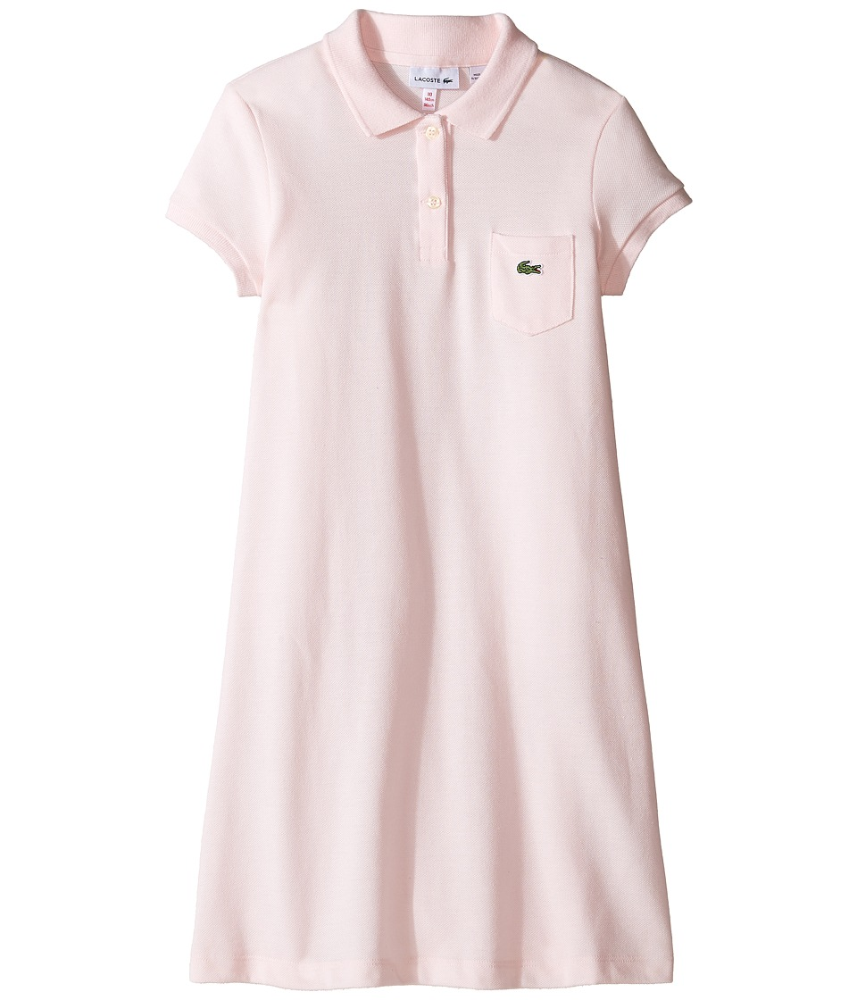 Lacoste Kids - Classic Pique Dress with Pocket (Toddler/Little Kids/Big Kids) (Flamingo) Girl's Dress