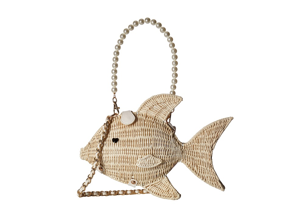 Betsey Johnson - Gone Fishin Crossbody (Tan) Cross Body Handbags