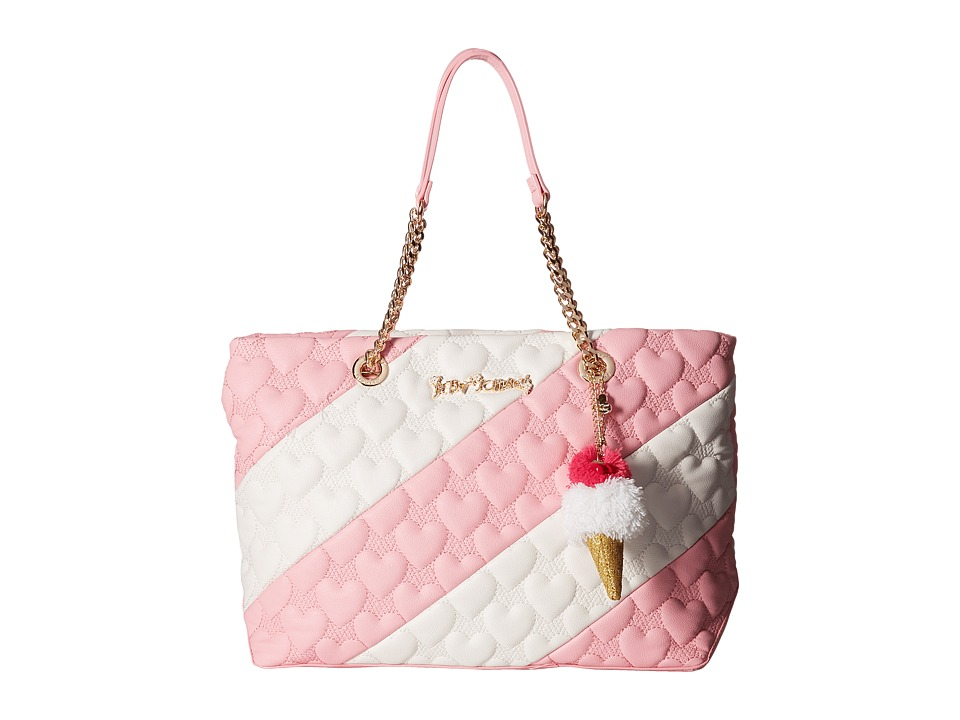 Betsey Johnson - Split Decision Tote (Pink) Tote Handbags