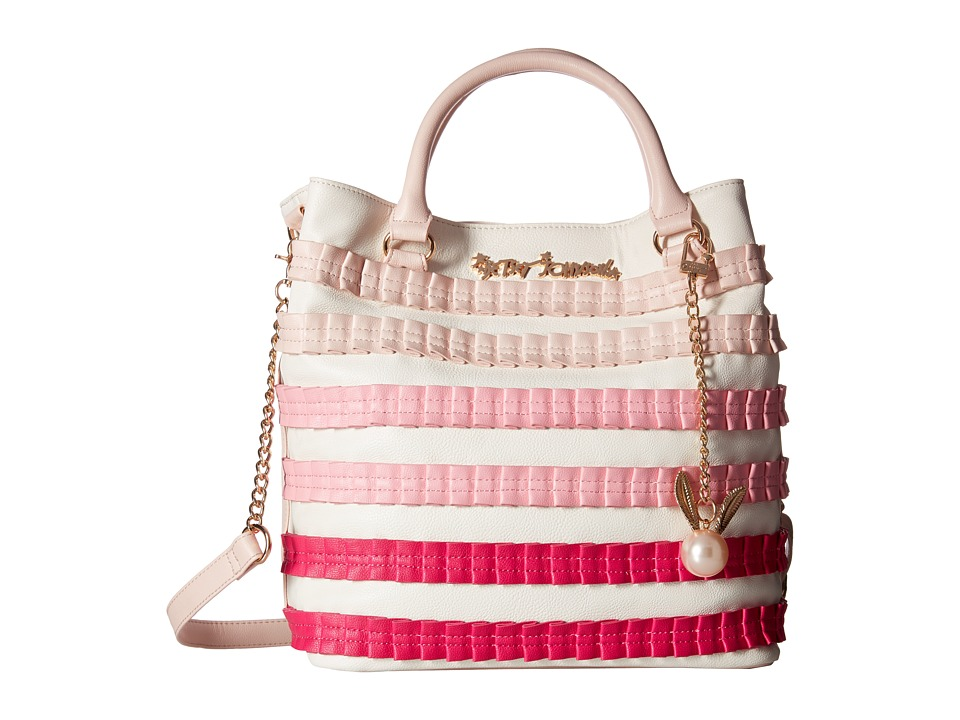 Betsey Johnson - Pleats Thank You Tote (Blush) Tote Handbags