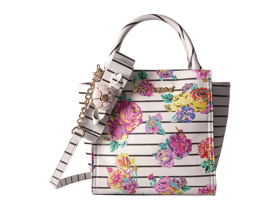 Betsey Johnson - Petal To The Metal Tote (White Floral) Tote Handbags