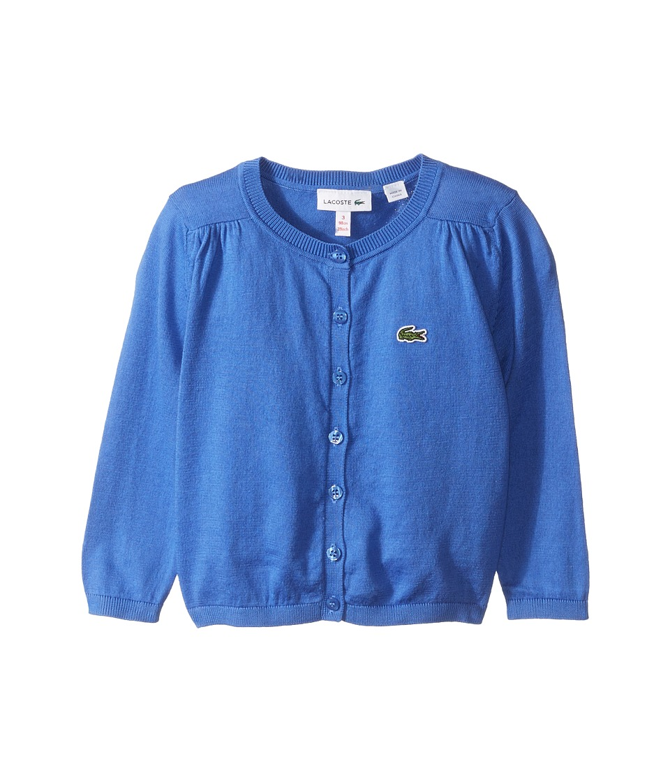 Lacoste Kids - Cardigan Sweater (Little Kids/Big Kids) (Milos Blue) Girl's Sweater