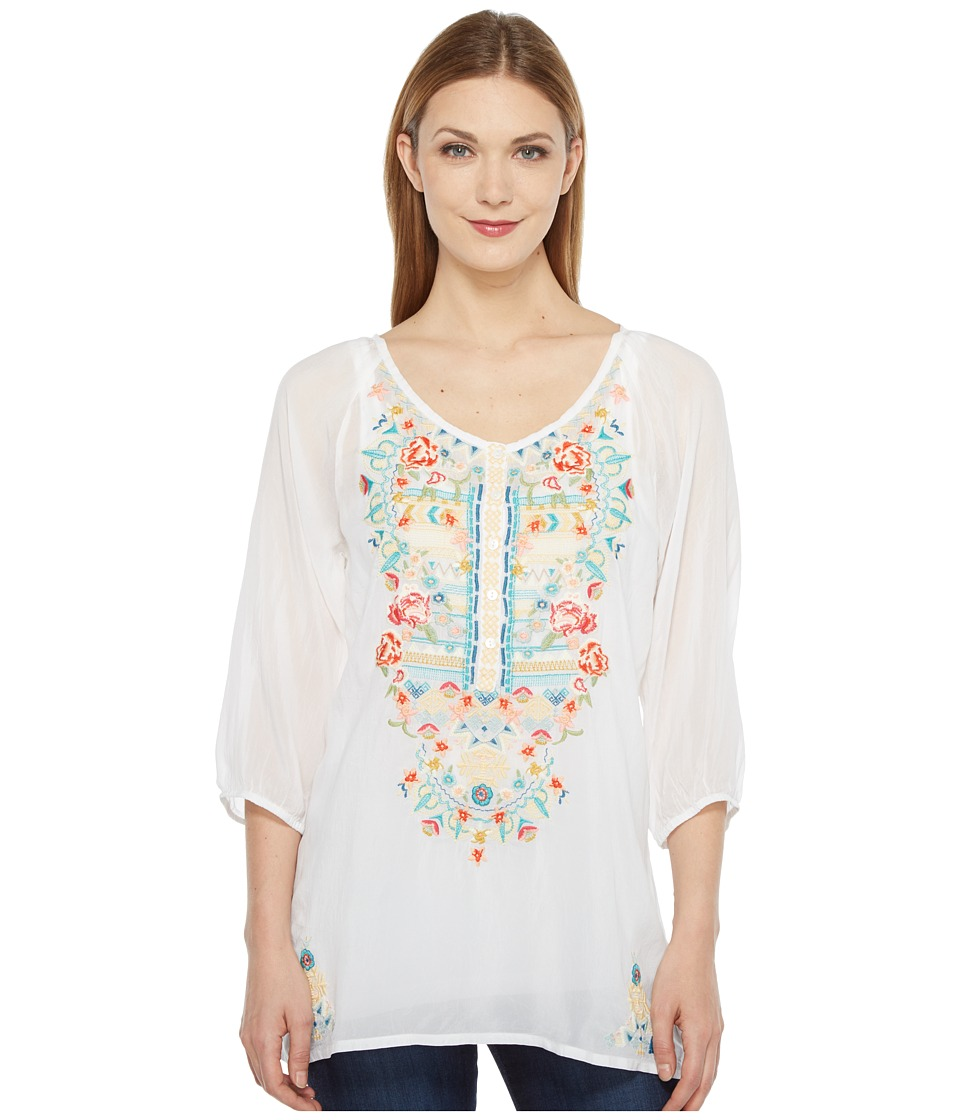Johnny Was - Linnet Blouse (White) Women's Blouse
