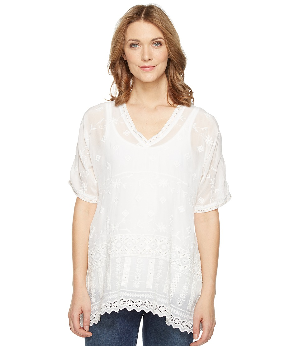 Johnny Was - Nyloni Dolman Top (White) Women's Clothing