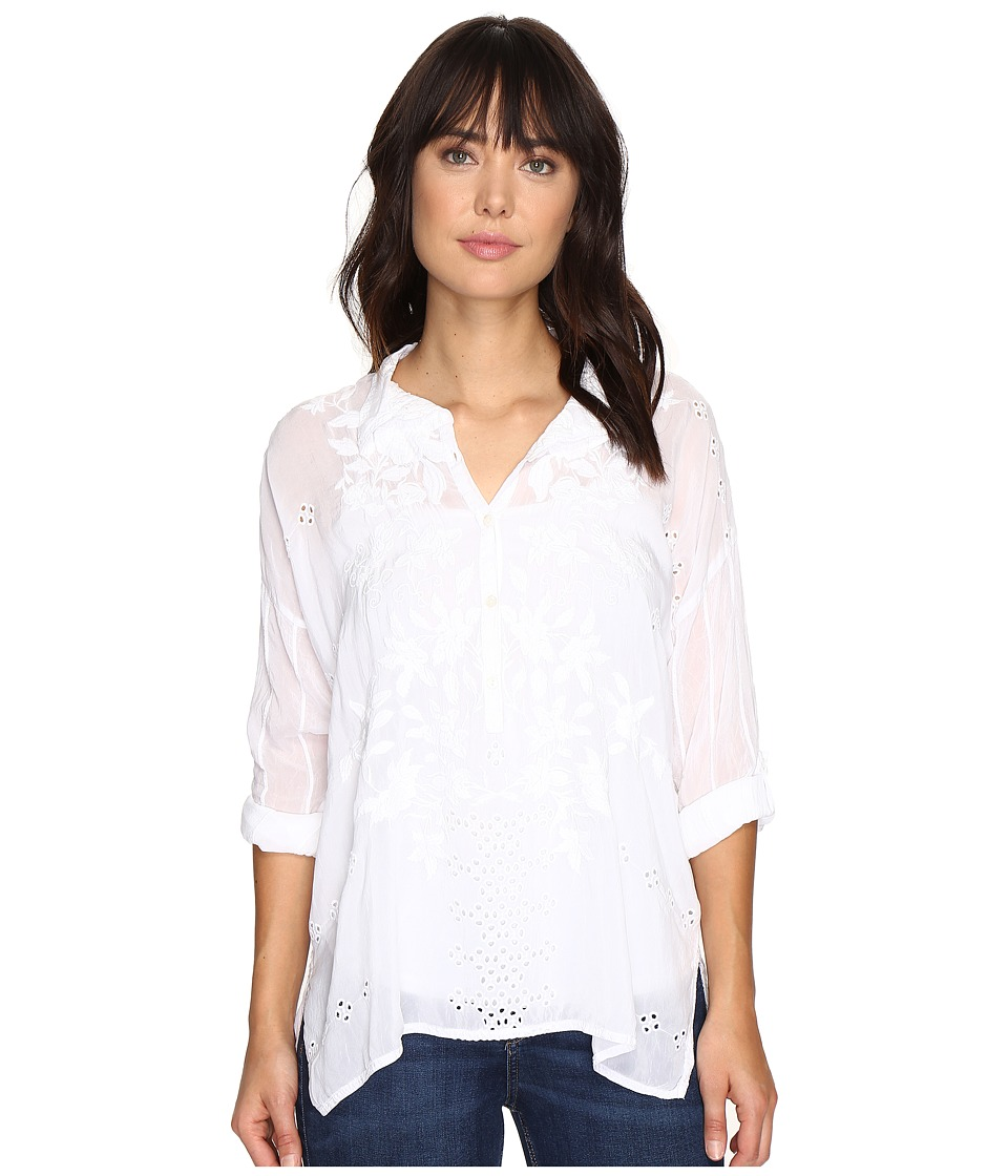 Johnny Was - Faith Shirt (White) Women's Clothing