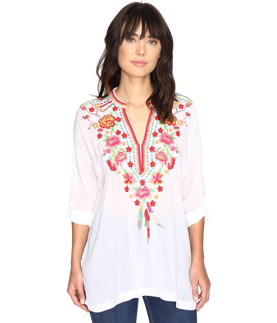 Johnny Was - Blossom Blouse (White) Women's Blouse