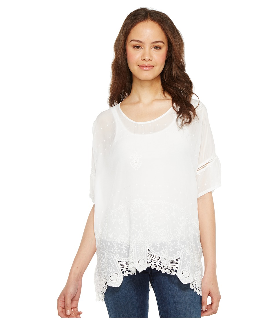 Johnny Was - Princess Top (White) Women's Clothing