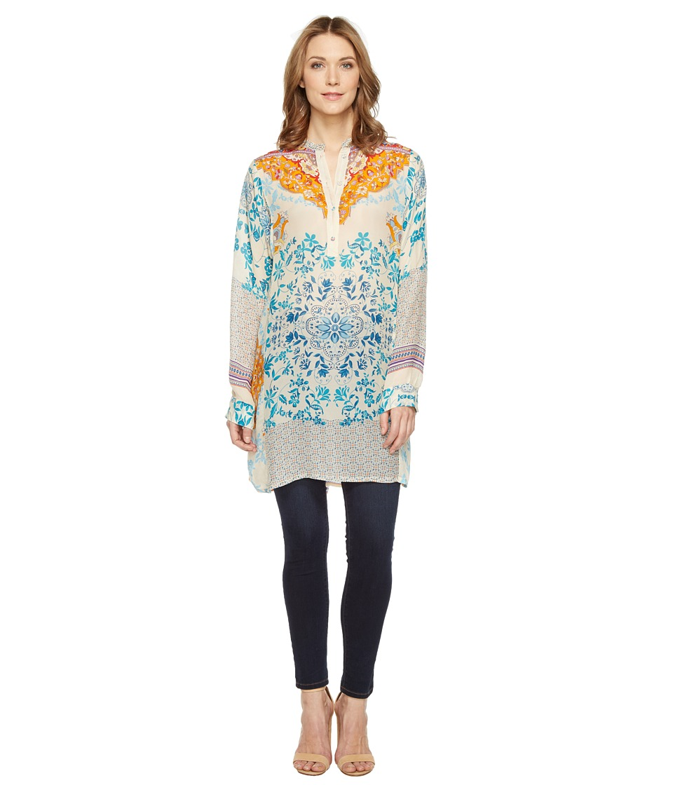 Johnny Was - Ellyonora 1/2 Placket Tunic (Multi A) Women's Blouse